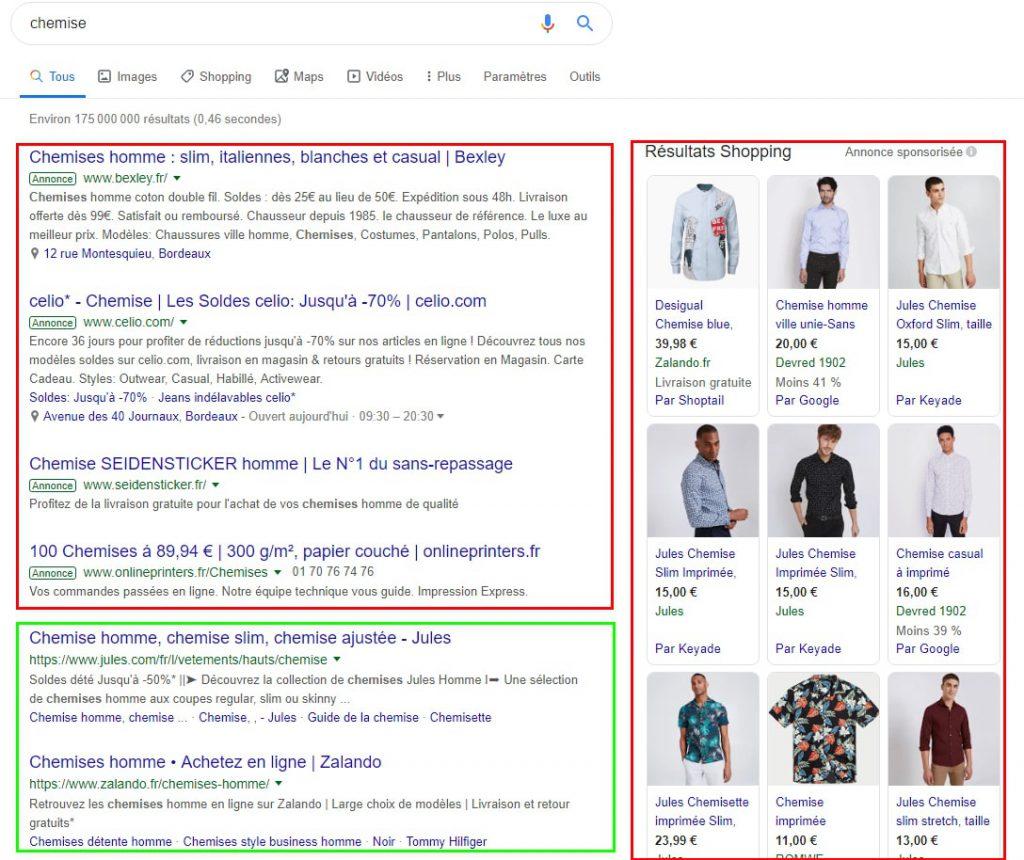 image serp google