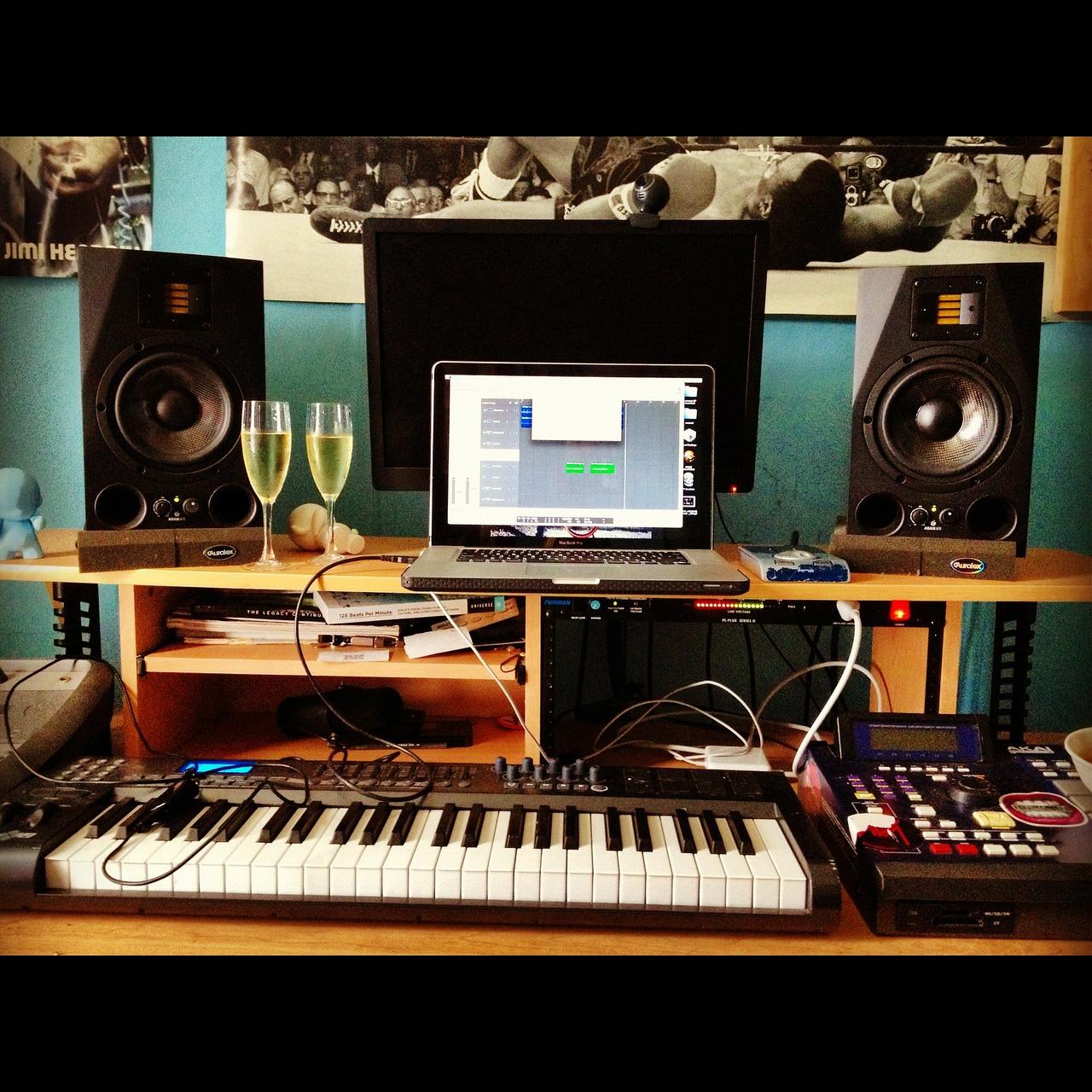site web studio de production musicale