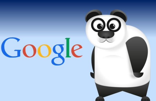 Un Panda avec le logo Google