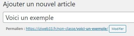 url permalien sur WordPress