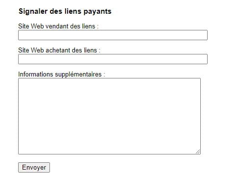 Spam Report Liens payants