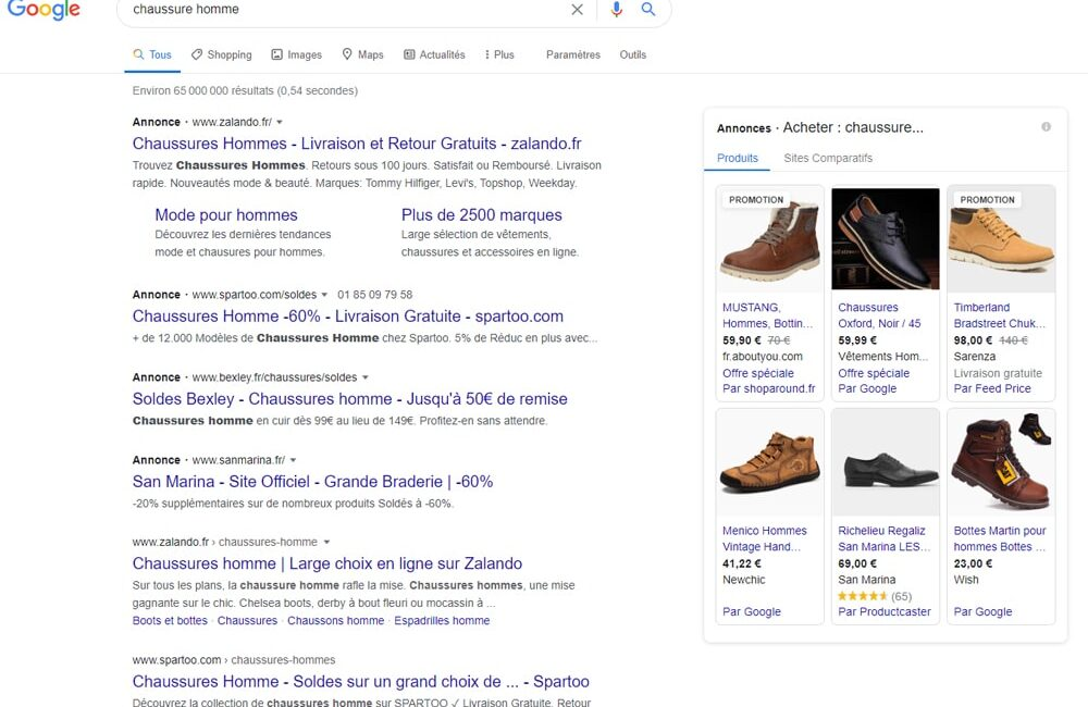 serp de google