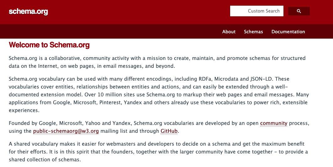 capture écran shema-org